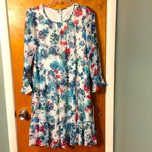 NWT Calvin Klein floral midi dress